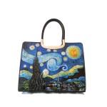 Borsa in pelle Blu notte Van Gogh Notte stellata