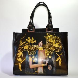 Borsa nera in PELLE - Giuditta - Klimt