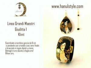 Br03 Bracciale dipinto a mano - Giuditta - Klimt