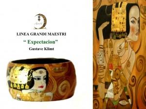 Br04 Bracciale dipinto a mano - Expectation - Klimt