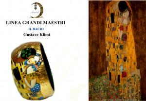 Bracciale dipinto a mano - Il bacio - Klimt