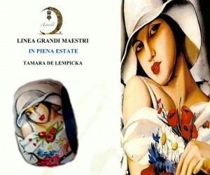 Bracciale dipinto a mano - In piena estate - Tamara de lempcka