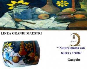 Bracciale dipinto a mano -Natura morta - Gauguin
