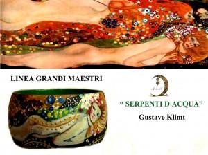 Bracciale dipinto a mano - Serpenti d'acqua - Klimt