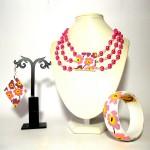 Coordinato (immagine inserita a scopo dimostrativo) dipinto a mano - bracciale orecchini pendente collana dipinti a manao missLuisa