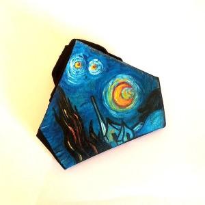 Fazzoletto dipinto a mano la notte stellata Van gogh