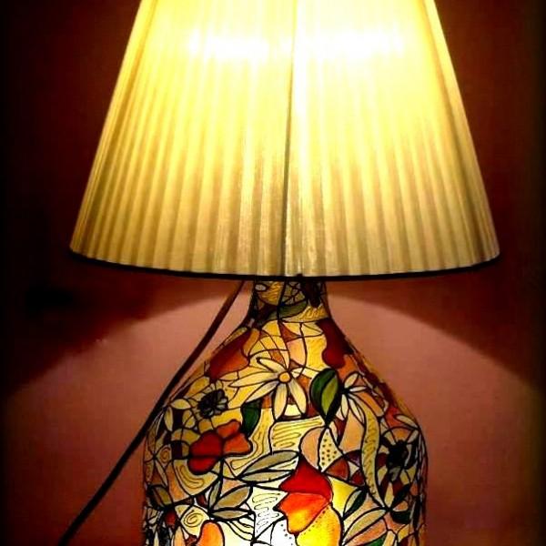 Lampada dipinta a mano Petali