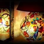 Lampada dipinta a mano Sole 2