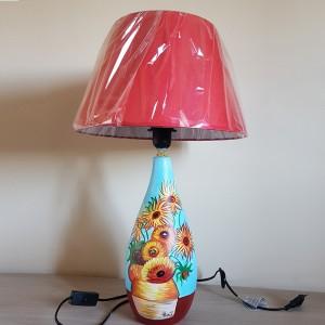 Lampada dipinta a mano girasoli van gogh