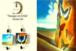 Orecchini dipinti a mano Dalì