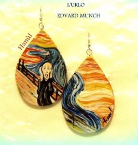 Orecchini dpinti a mano - L'Urlo - Munch