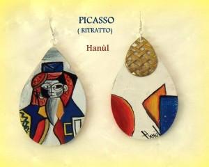 Orecchini dpinti a mano - Picasso - Ritratto