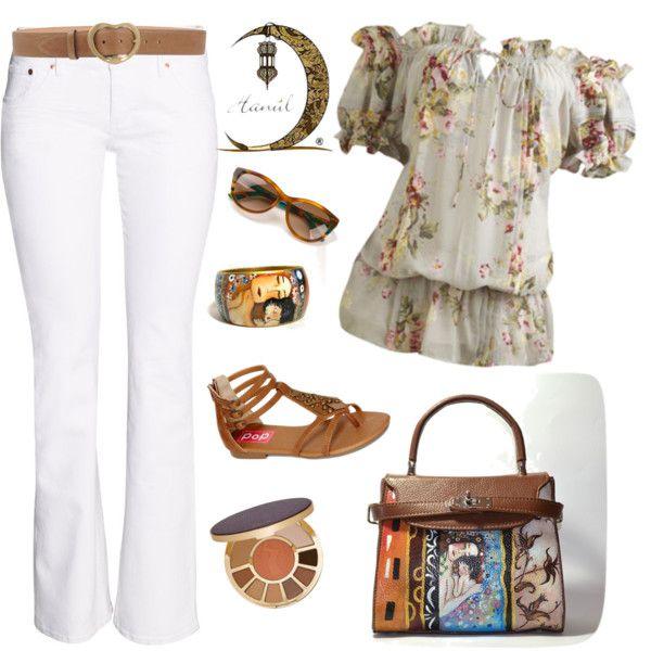 Outfits Borsa dipinta a mano  Maternità Klimt summer brown