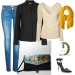 Outfits pochette dipinta a mano Monet - REGATA AD ARGENTEUIL