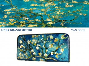 Po11 Portafoglio dipinto a mano - Il mandorlo - Van Gogh