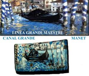 Portafoglio dipinto a mano - Canal grande - Manet