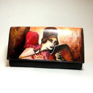 Portafoglio dipinto a mano Les Amies Tamara De Lempicka