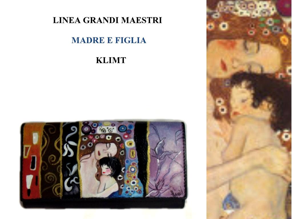 Portafoglio dipinto a mano - Madre e figlio - Klimt