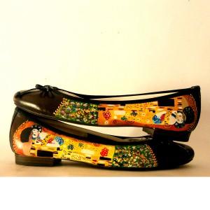 Scarpe dipinte a mano Ballerine Il Bacio - Klimt