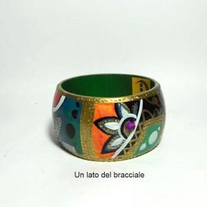 ZAIRA, COD LML BR 07 bracciale dipinto a mano e dettagli in glitter oro