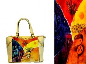 bo19 Borsa in pelle dipinta a mano - La felicità - Chagall