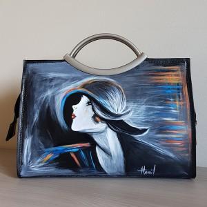 Il Ritratto di Suzy, Di Giovanni Boldini, borsa dipinta a mano da passeggio.