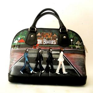 borsa dipinta a mano Beatles