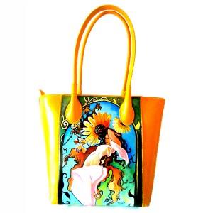 borsa dipinta a mano - ESTATE - Alphonse Mucha