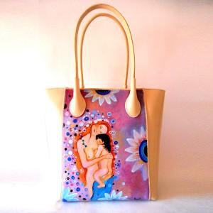borsa dipinta a mano - Maternità klimt