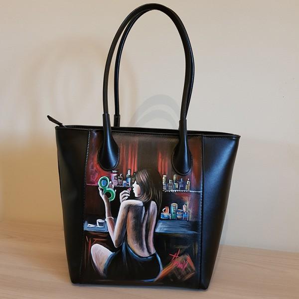Vanità, borsa dipinta a mano in stile impressionista