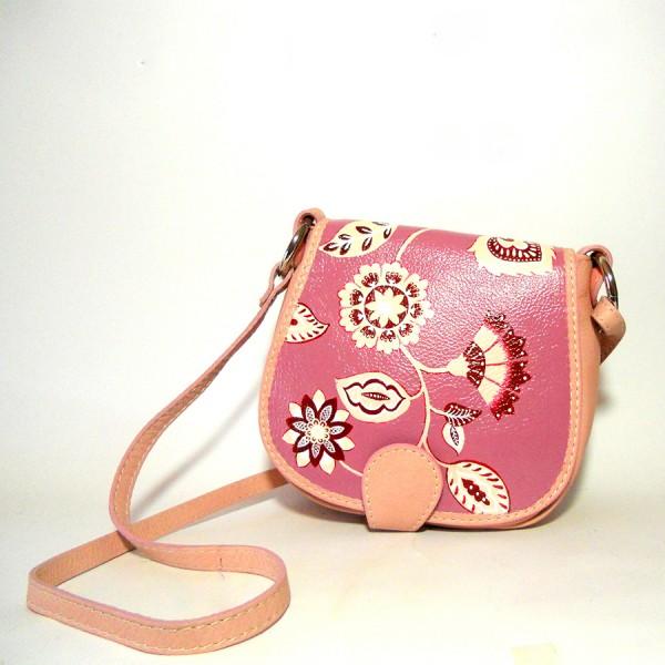 borsa in pelle dipinta a mano MissRosa anni 70 vintage