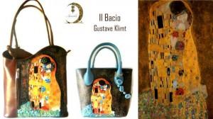 borse dipinte a mano - Il bacio - Klimt