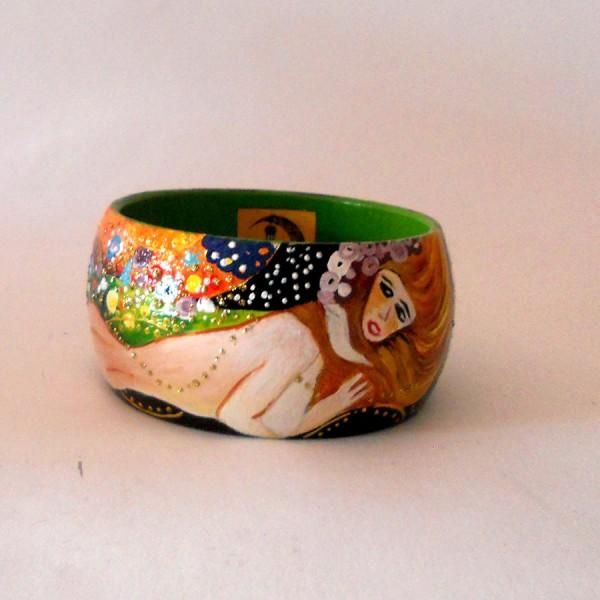 bracciale dipinto a mano Bisce d'acqua Klimt