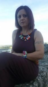 bracciale dipinto a mano e collana abbinata