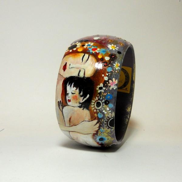 bracciale dipinto a mano la maternità di Klimt
