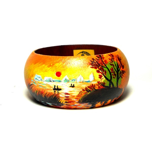 bracciale in legno dipinto a mano AL CALAR DEL SOLE Monet
