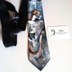 cravatta dipinta a mano picasso