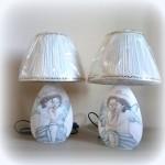 lampada dipinta a mano il primo bacio