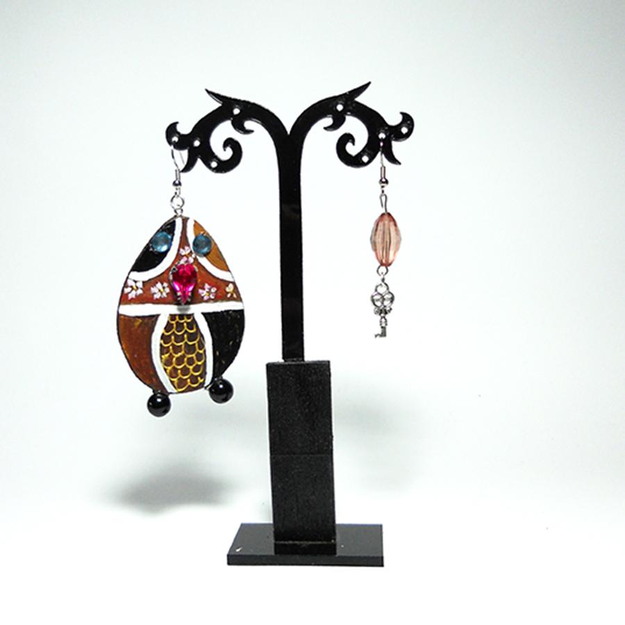 orecchini in legno dipinti a mano - Gupinti 4