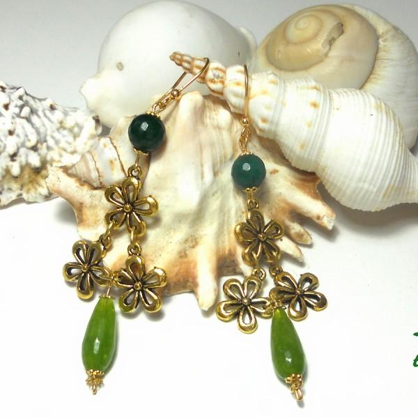 orecchini pendenti Fiori del mare 2