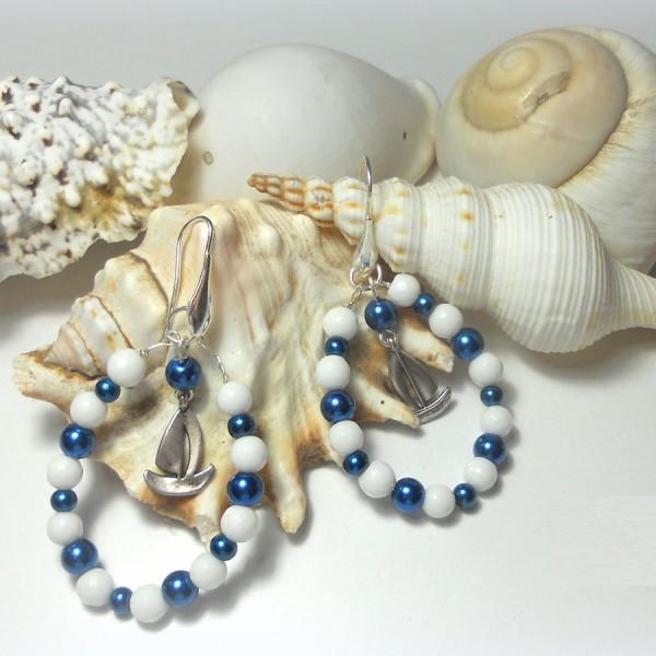 orecchini pendenti come vela sul mare 2