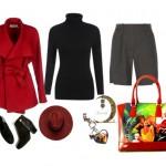 outfits borsa dipinta e portachiavi irene scherì