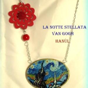 pendente dipinto a mano Notte Stellata van Gogh