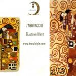 po08 Portafoglio dipinto a mano - L'abbraccio - Klimt