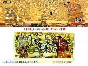 po09 Portafoglio dipinto a mano - L'albero della vita - Klimt