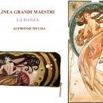 po10 Portafoglio dipinto a mano - La danza- Alphonse Mucha