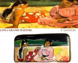 po15 Portafoglio dipinto a mano - Giocosità - Gauguin