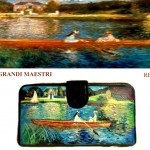 po24 Portafoglio dipinto a mano - Navigando sulla Senna - Renoir