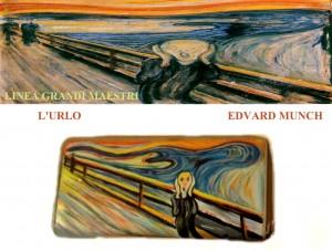 po27 Portafogli dipinto a mano L'urlo - Munch