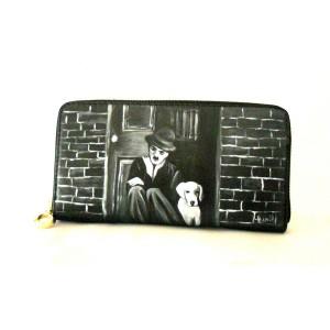portafoglio dipinto Charly Chaplin